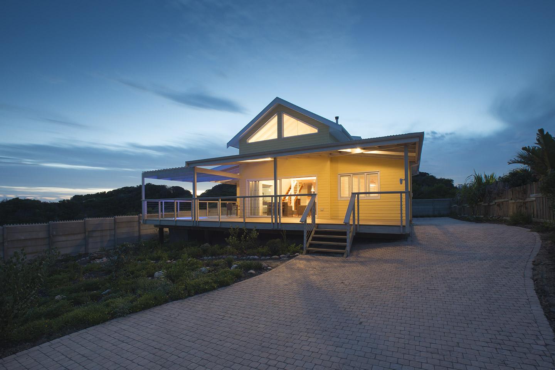 contemporary timber home