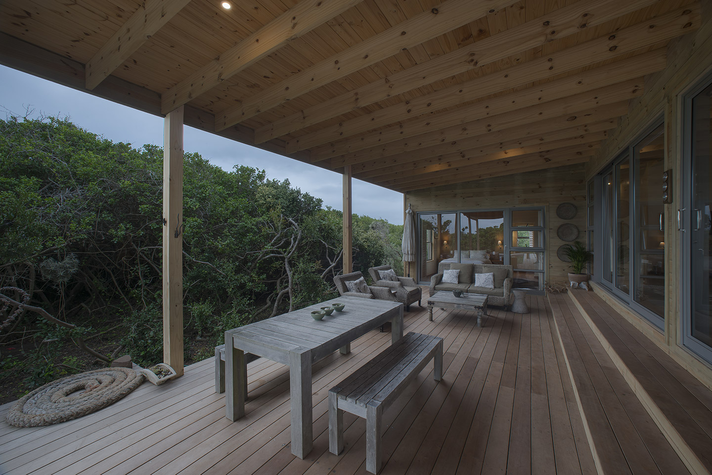 rustic eco timber home
