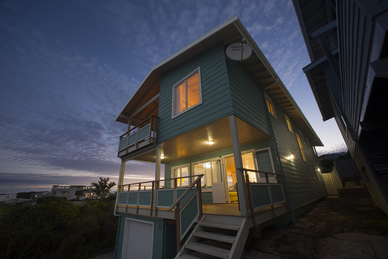 timber beach house
